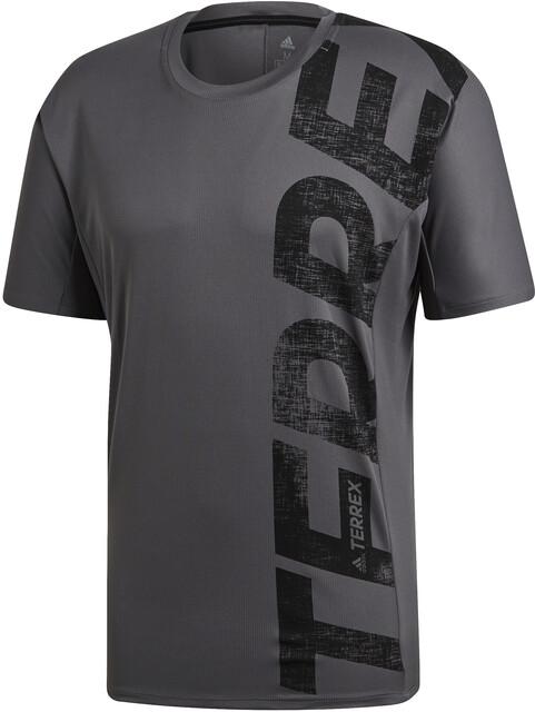adidas TERREX Trail Cross T shirt Homme, grey five sur CAMPZ